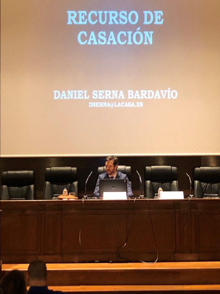 Daniel Serna en el Salón Carlos Carnicer del Colegio de Abogados de Zaragoza