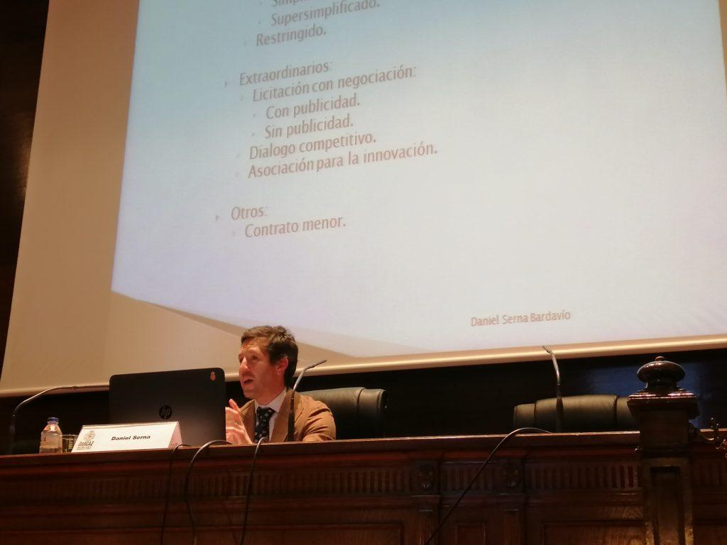 Daniel Serna en el Colegio de Abogados de Zaragoza
